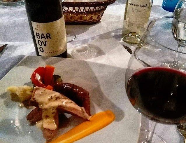 マケドニアのワインをディナーに